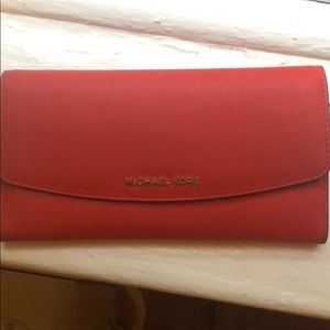 Michael Kors Saffiano Leather ContinentalWallet